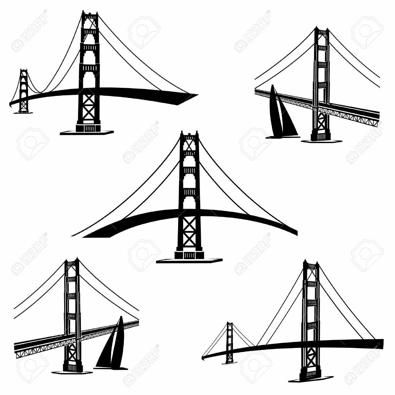 Golden Gate Bridge Line Drawing At Getdrawings