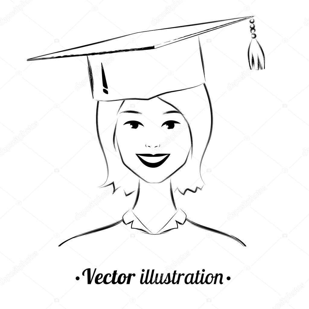 Graduation Drawing At Getdrawings