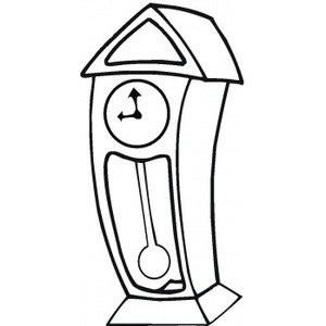 Grandfather Clock Coloring Sheet Coloring Pages For Familly And Kids