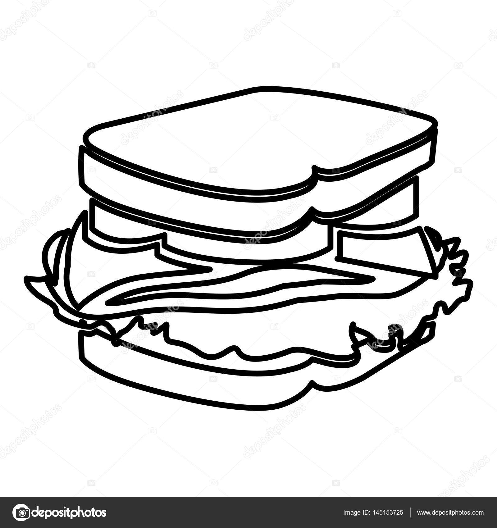 Grilled Cheese Drawing At Getdrawings