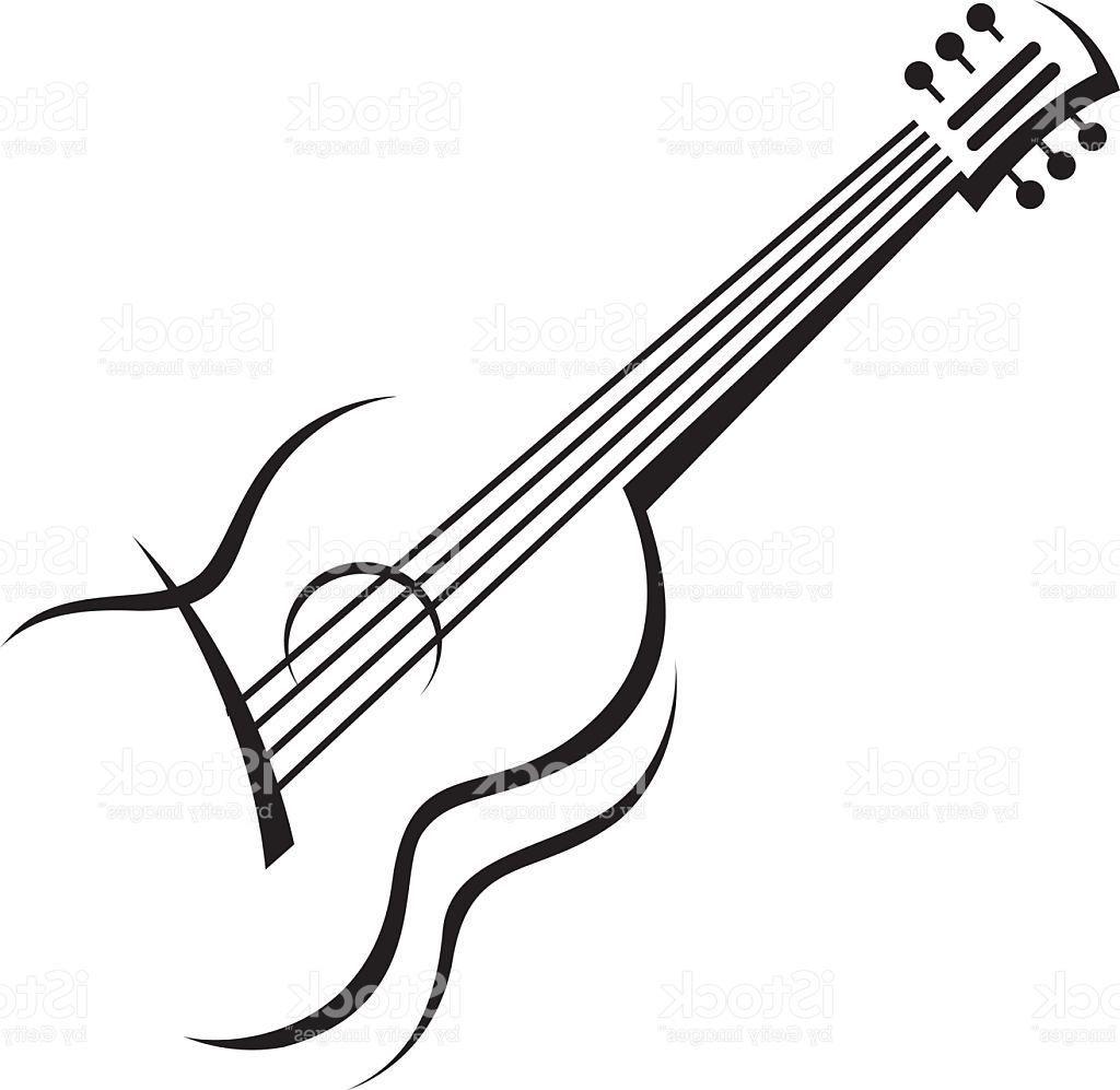 Guitar Outline Drawing At Getdrawings