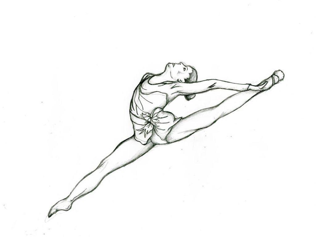 Gymnastics Drawing Easy At Getdrawings