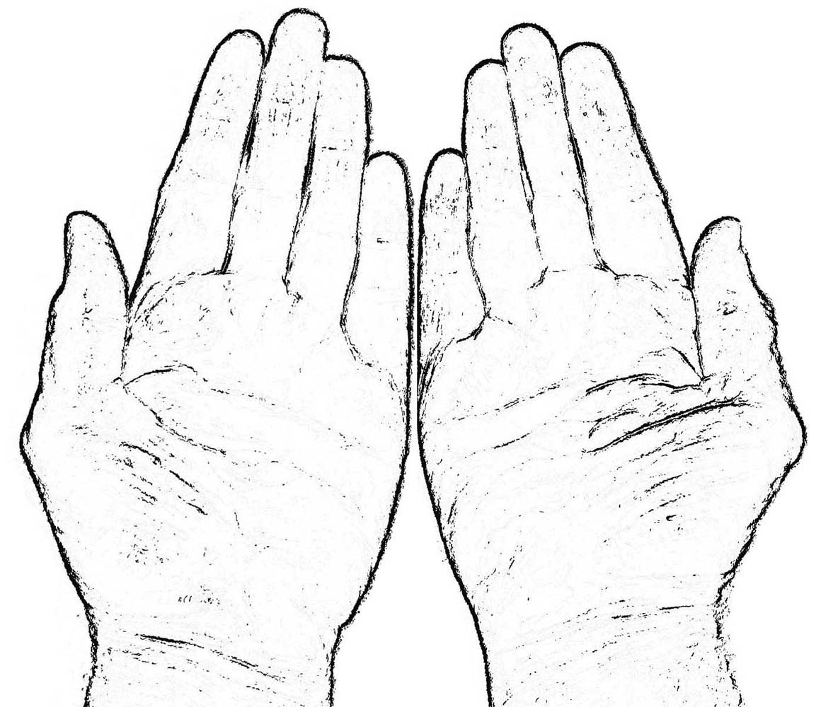 Hand Coloring Page