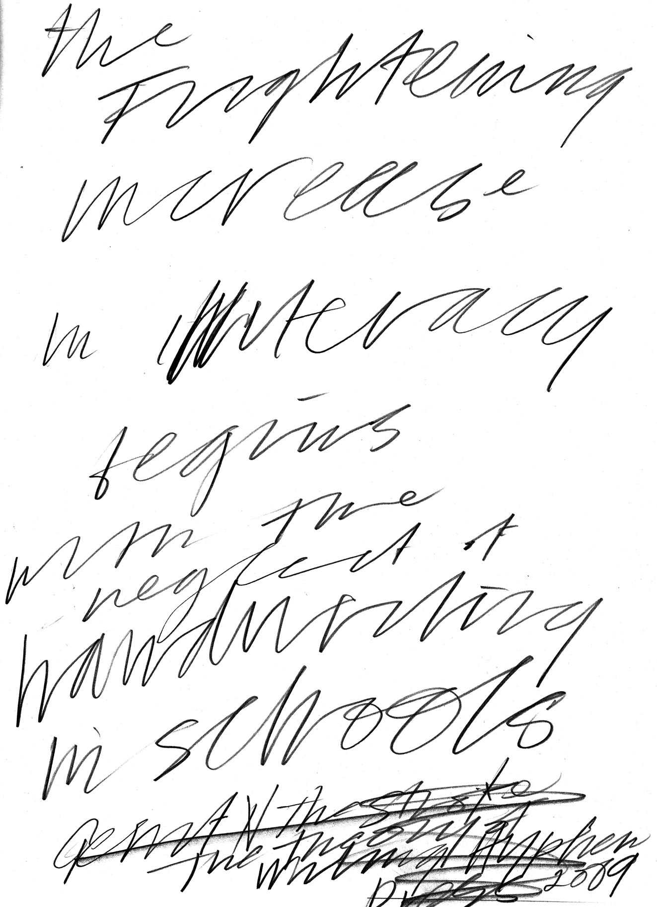 Handwriting Drawing At Getdrawings