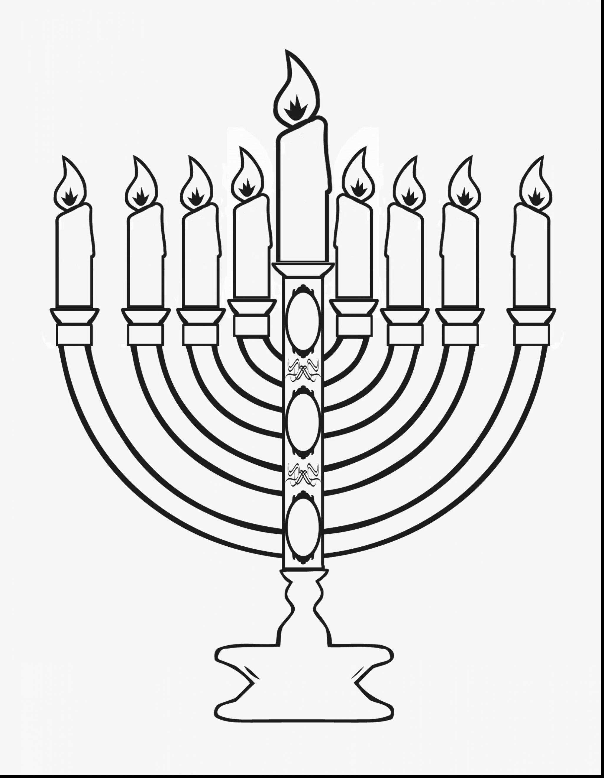 Hanukkah Menorah Drawing At Getdrawings