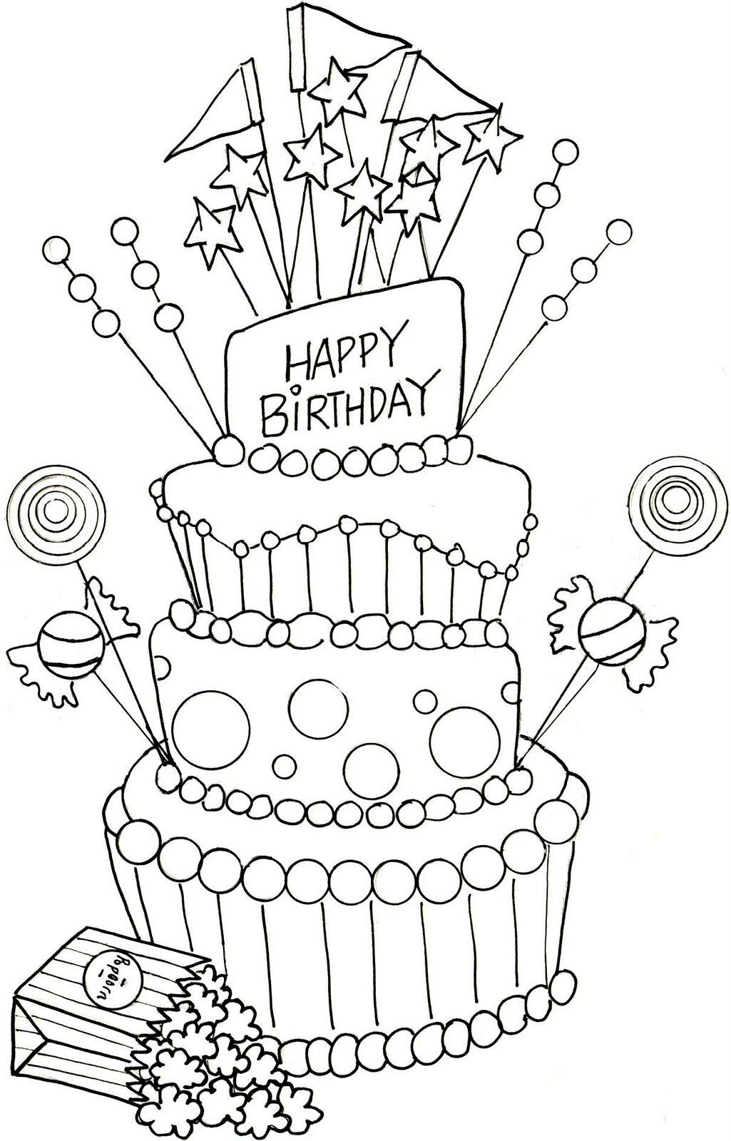 Happy Birthday Cake Drawing At Getdrawings