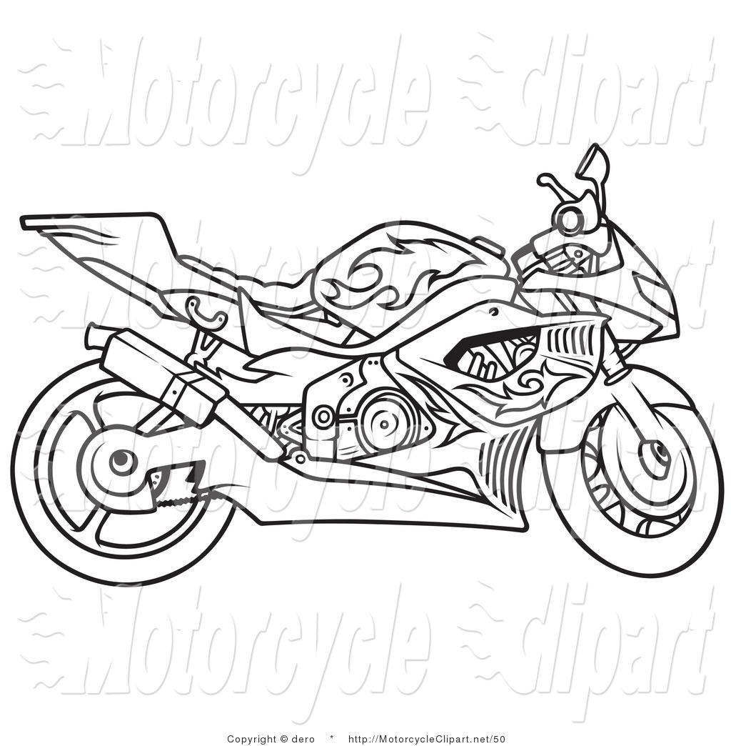 Harley Davidson Motorcycle Drawing At Getdrawings