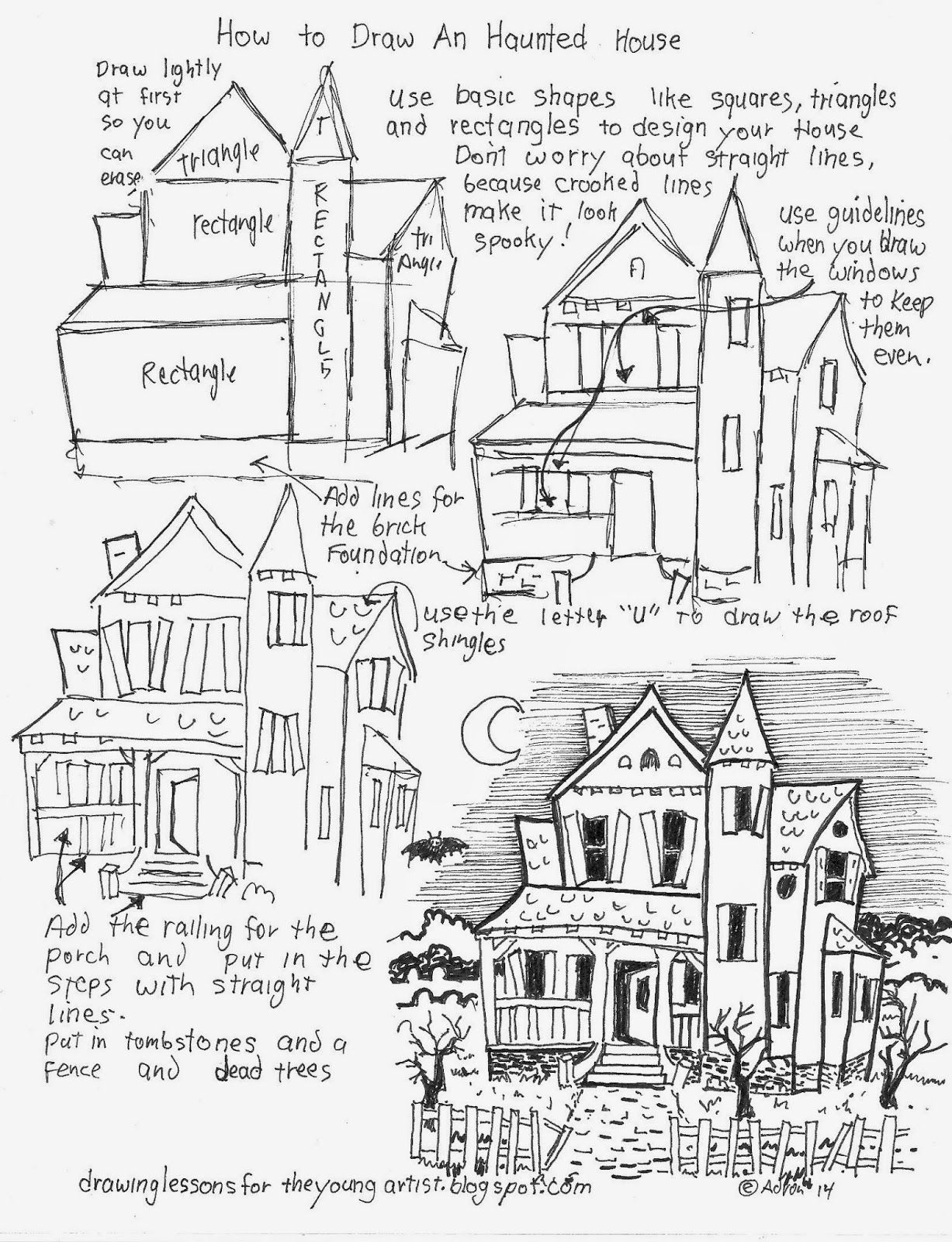 Haunted House Drawing At Getdrawings