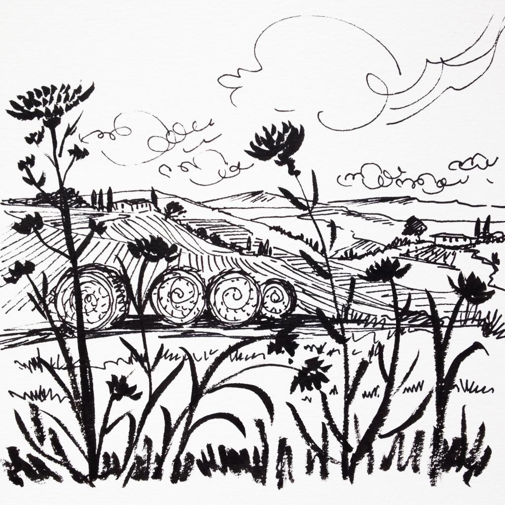 Hay Bale Drawing At Getdrawings