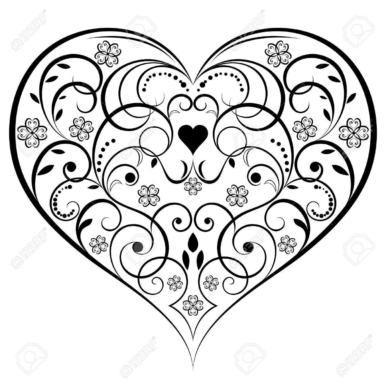 Heart Drawing Black And White At Getdrawings