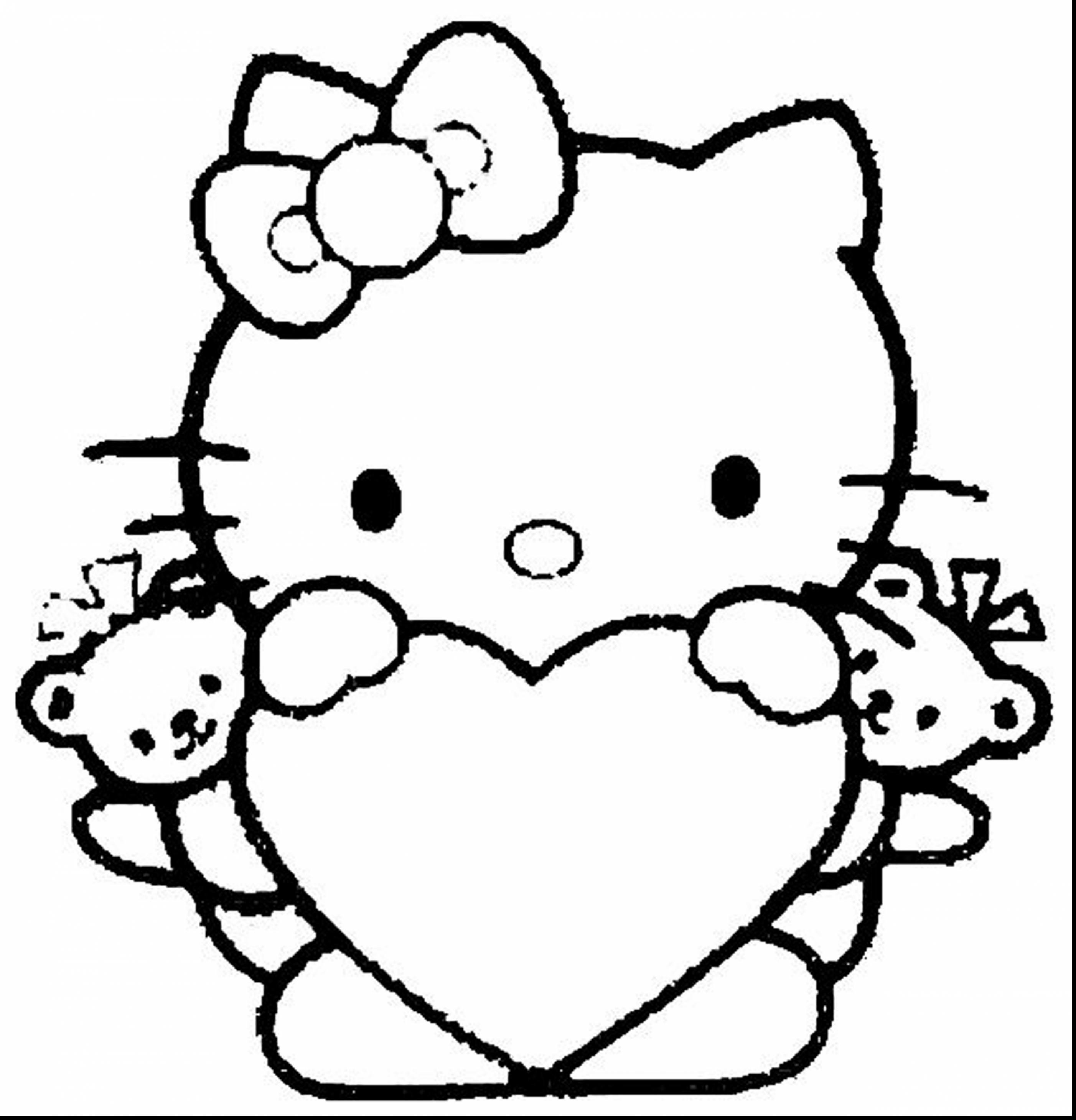 Hello Kitty Face Drawing At Getdrawings