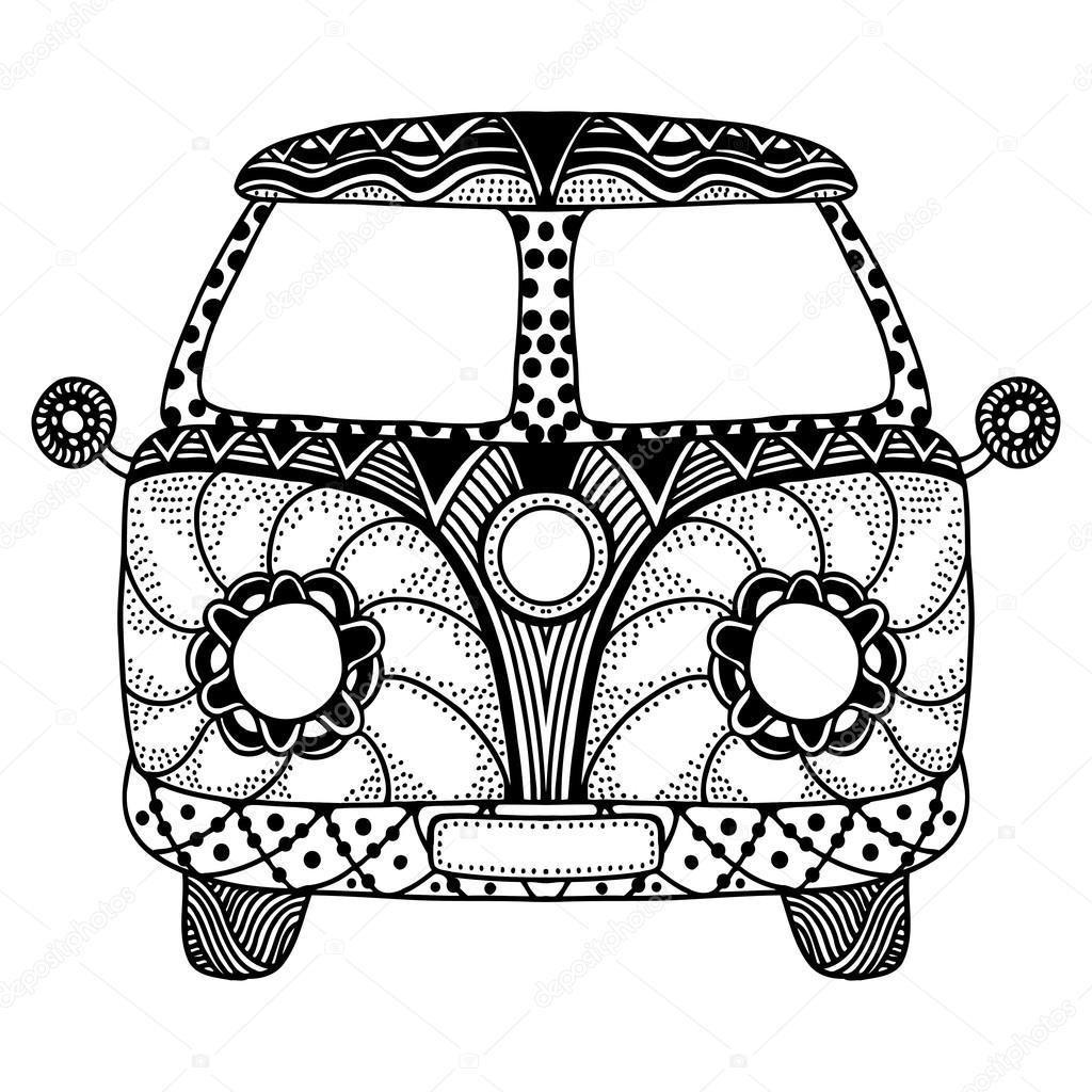 Hippie Van Drawing At Getdrawings