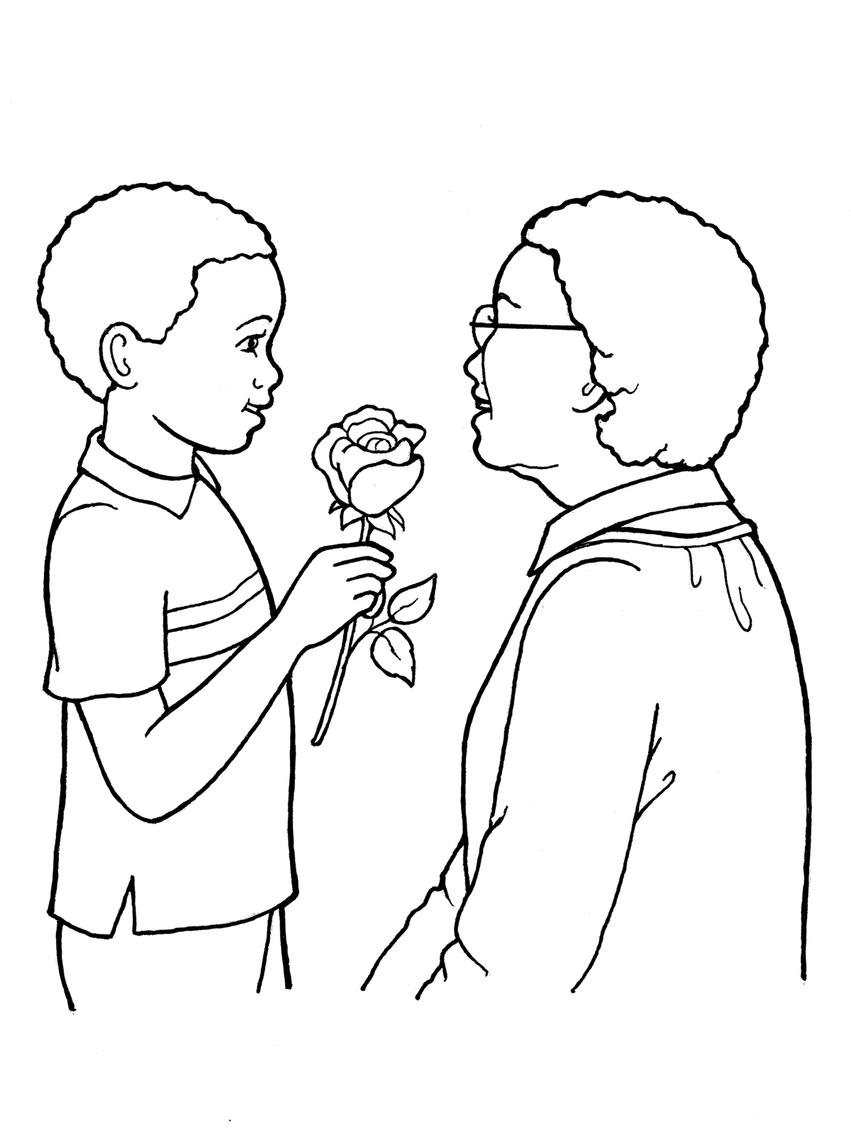 Holding A Rose Drawing At Getdrawings