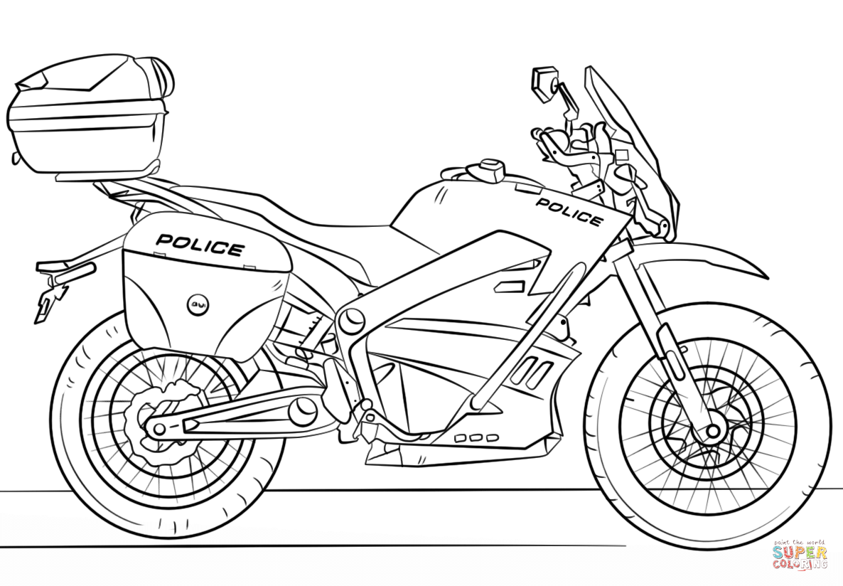 1186x824 police motorcycle coloring page free printable coloring pages
