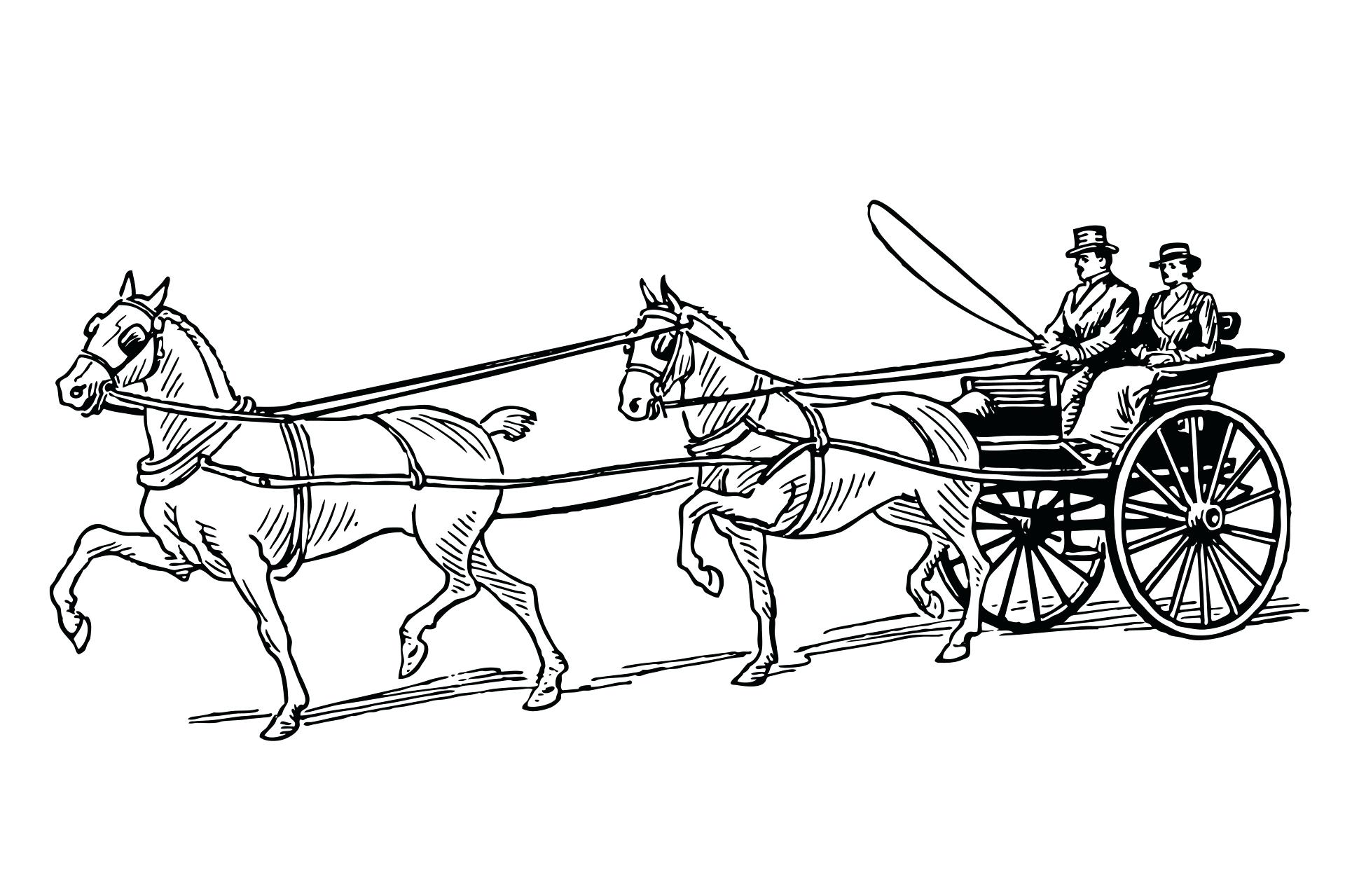 Horse And Buggy Drawing At Getdrawings