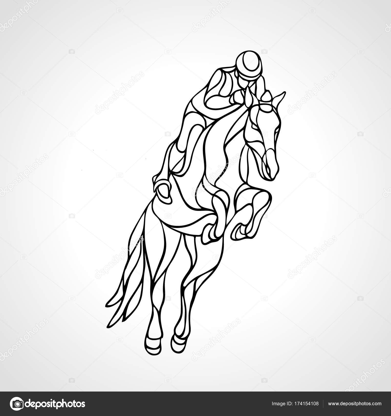 The Best Free Jockey Drawing Images Download From 122