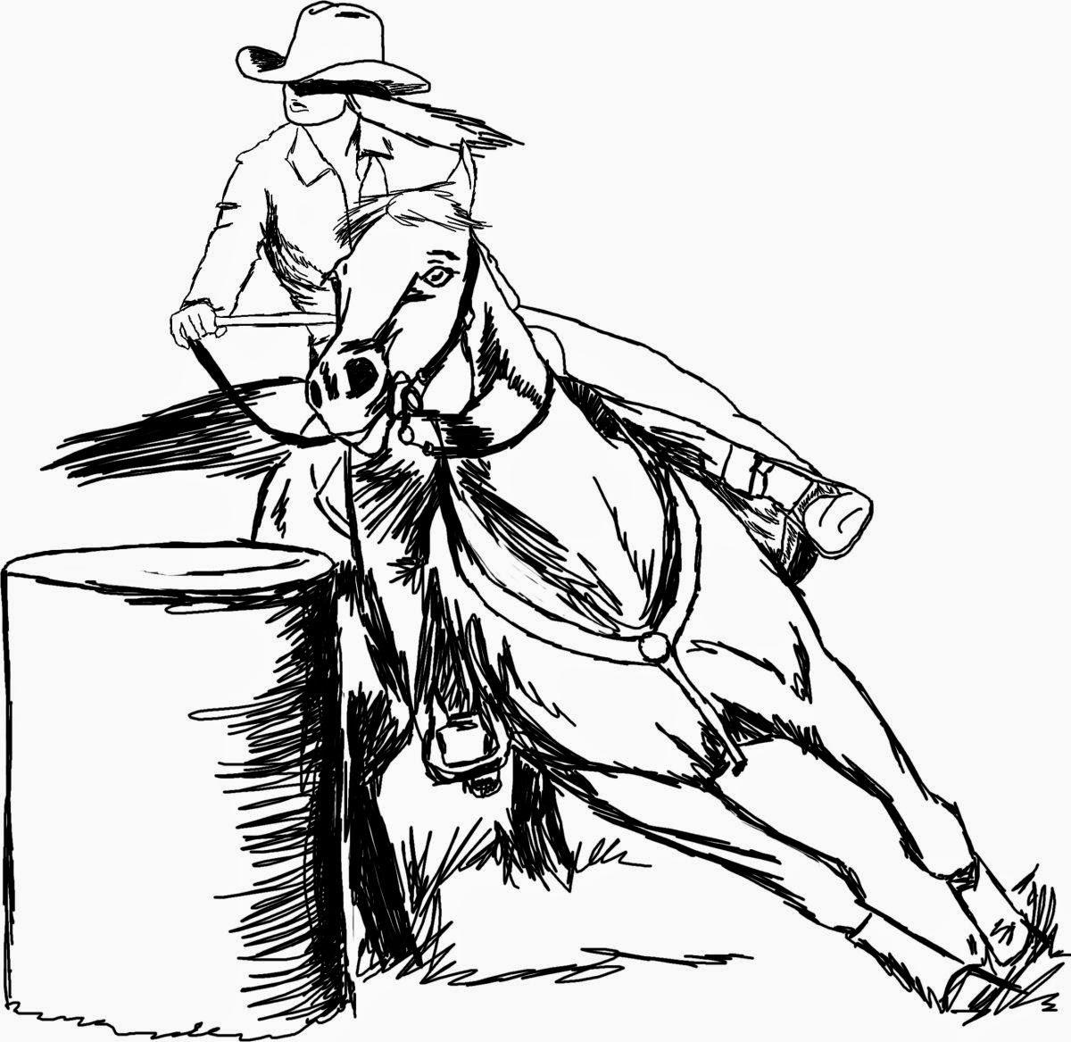 Horse Race Drawing At Getdrawings