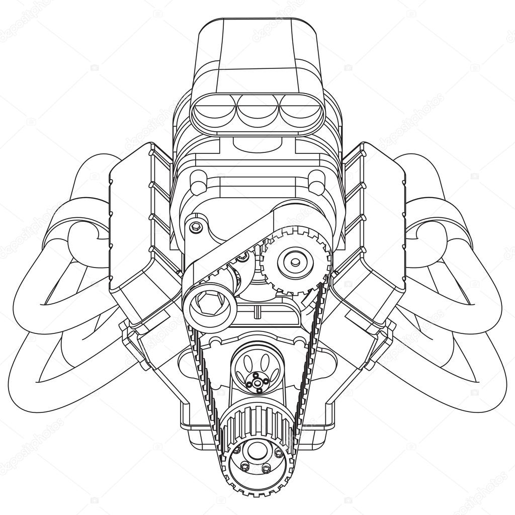 Hot Rod Line Drawing At Getdrawings