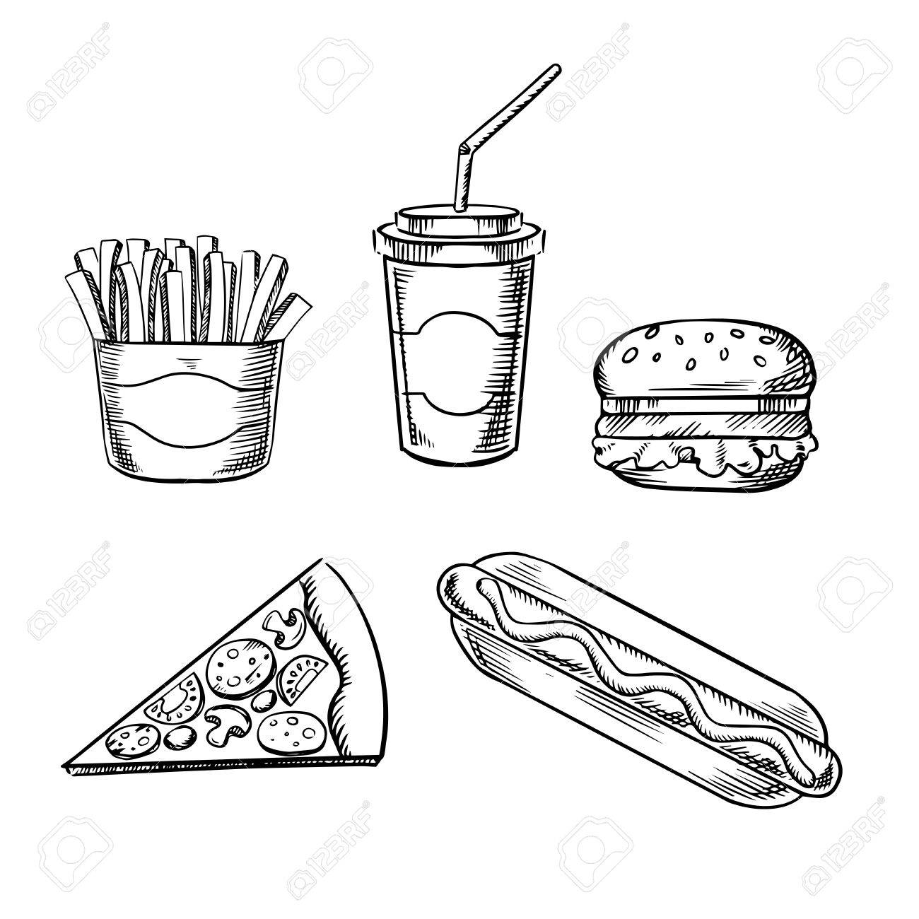 The Best Free Hamburger Drawing Images Download From 156