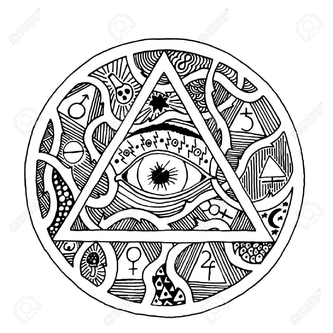 Illuminati Eye Drawing At Getdrawings