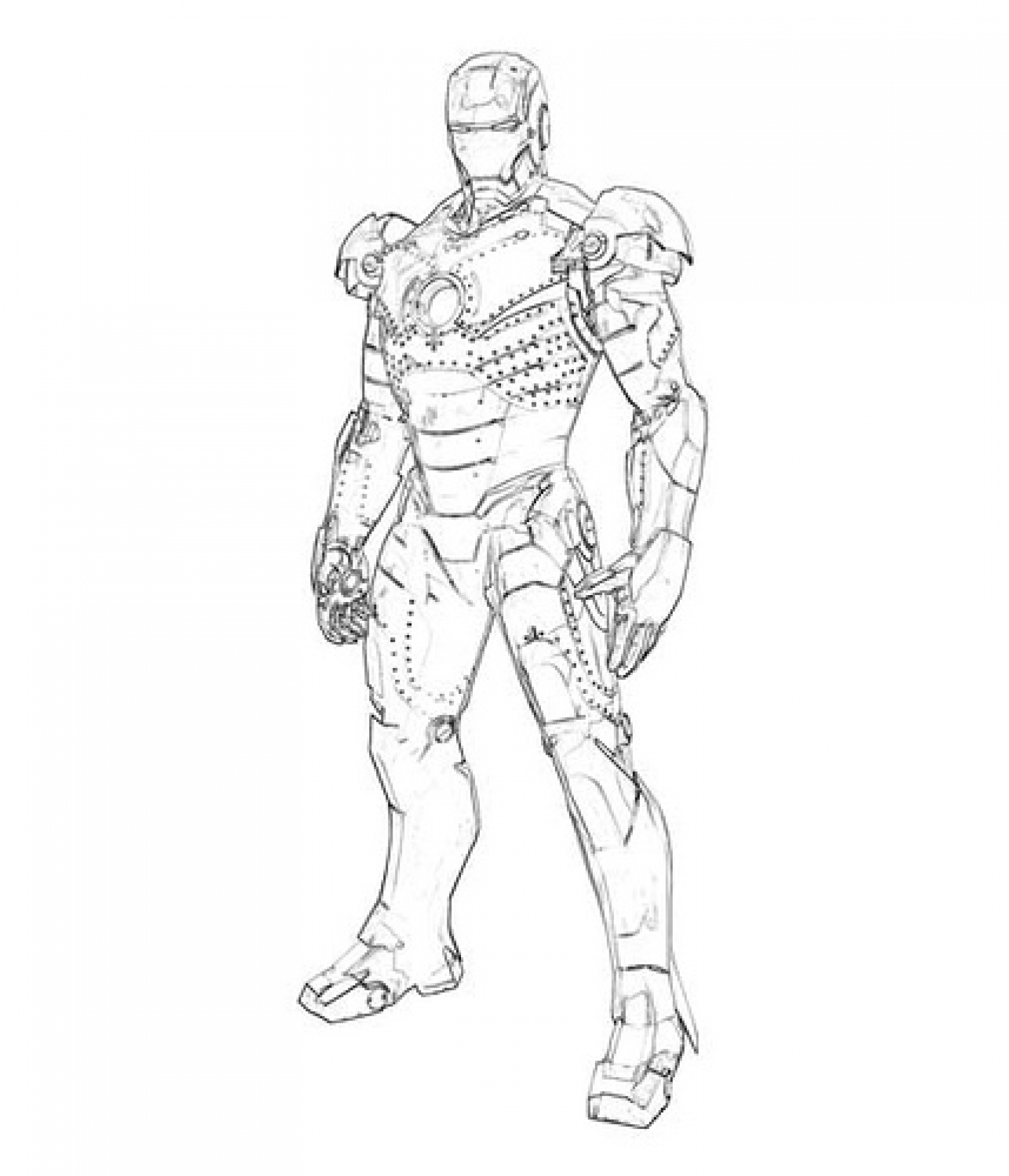 Iron Man Suit Drawing At Getdrawings