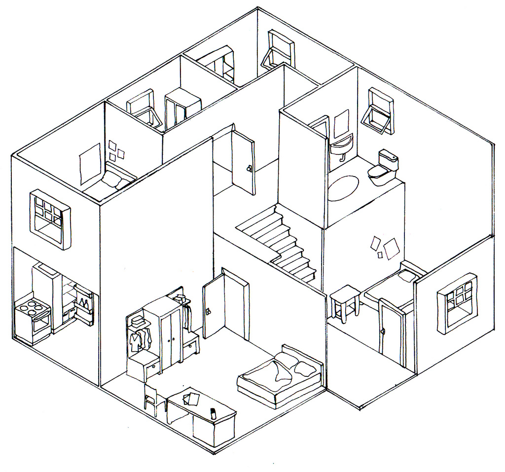Isometric House Drawing At Getdrawings