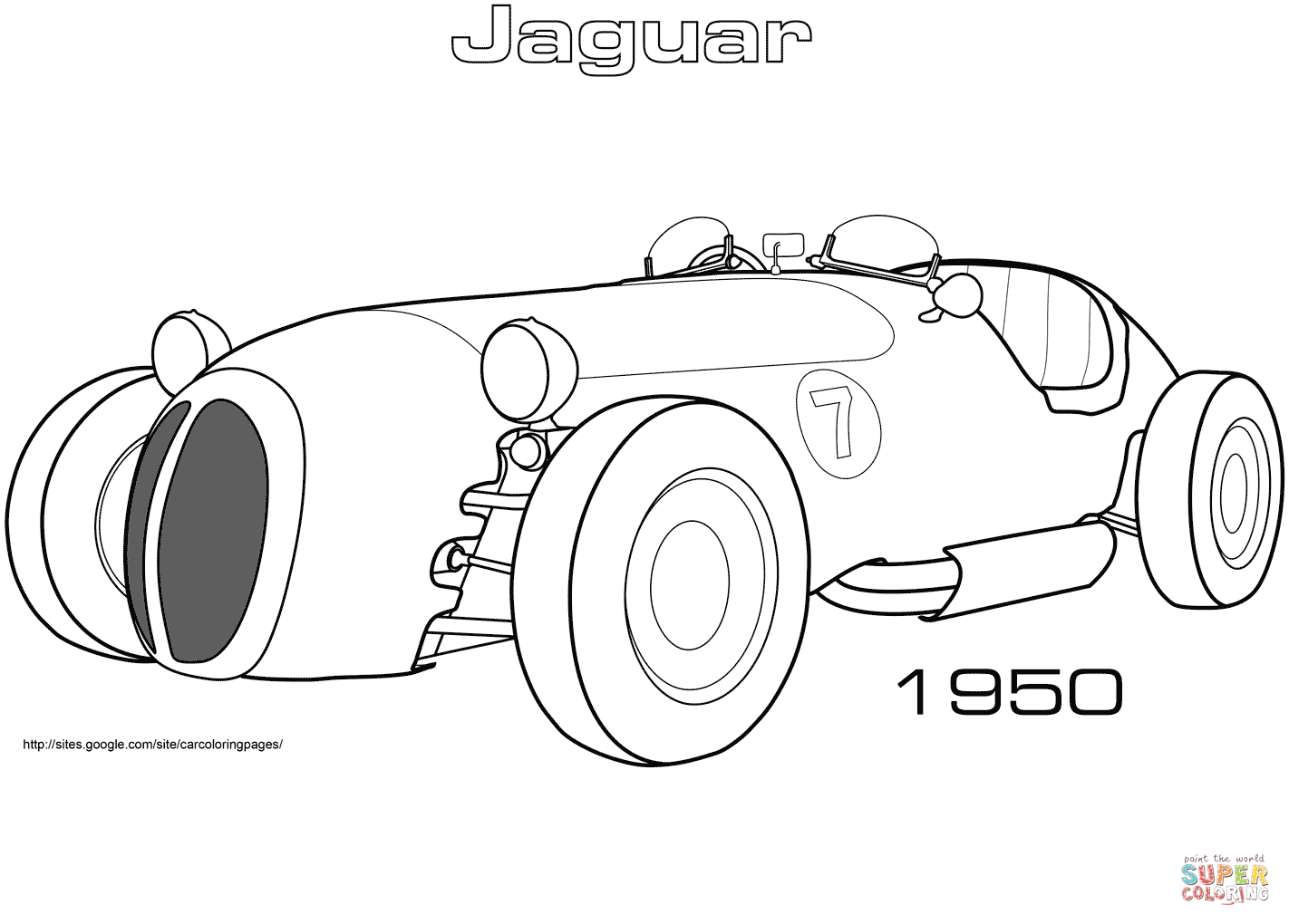 Jaguar Car Drawing At Getdrawings