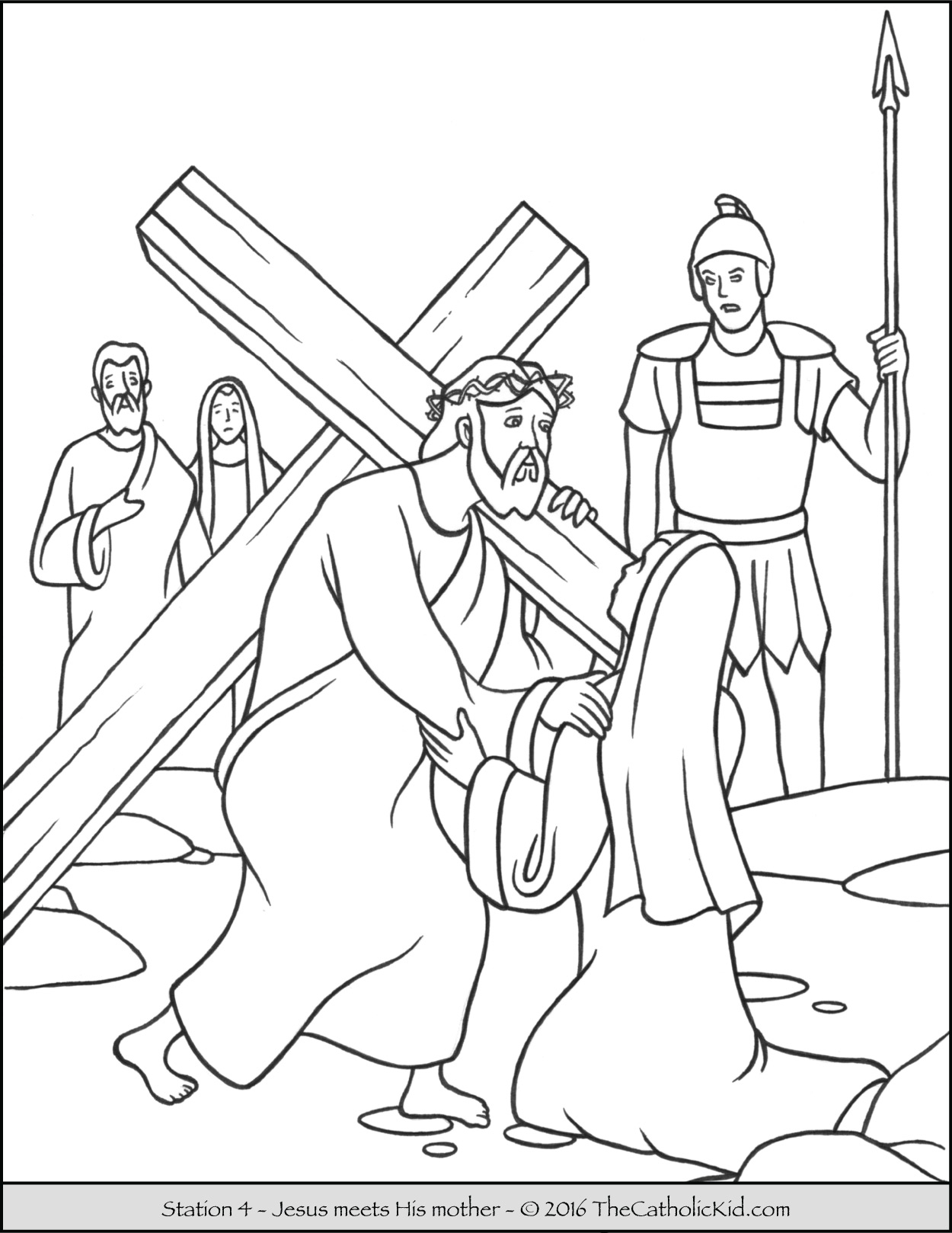 Jesus Carrying Cross Drawing At Getdrawings