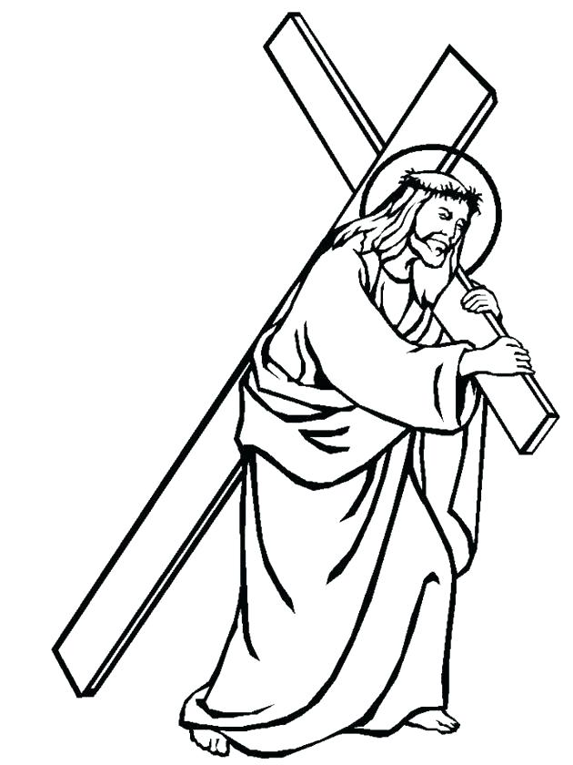 Carrying Easy Jesus Drawing Cross