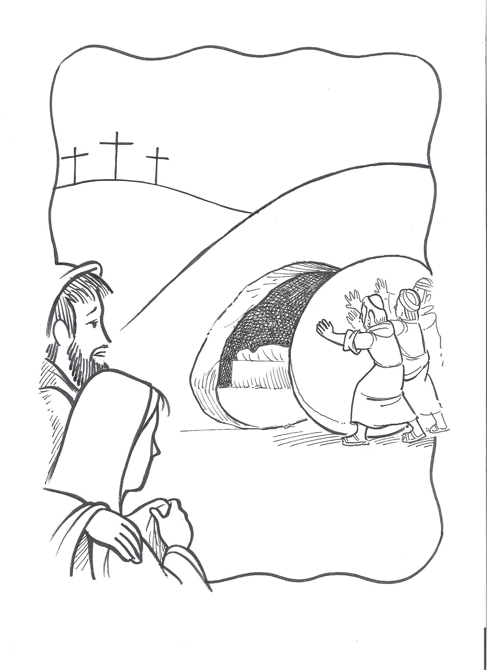 Jesus Tomb Drawing At Getdrawings