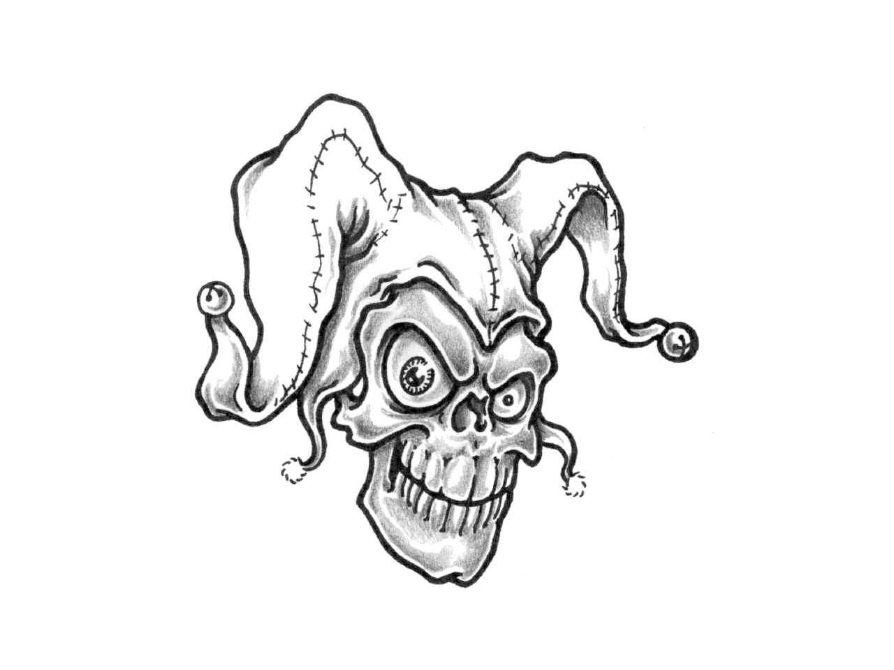 Jokers Faces Drawing At Getdrawings