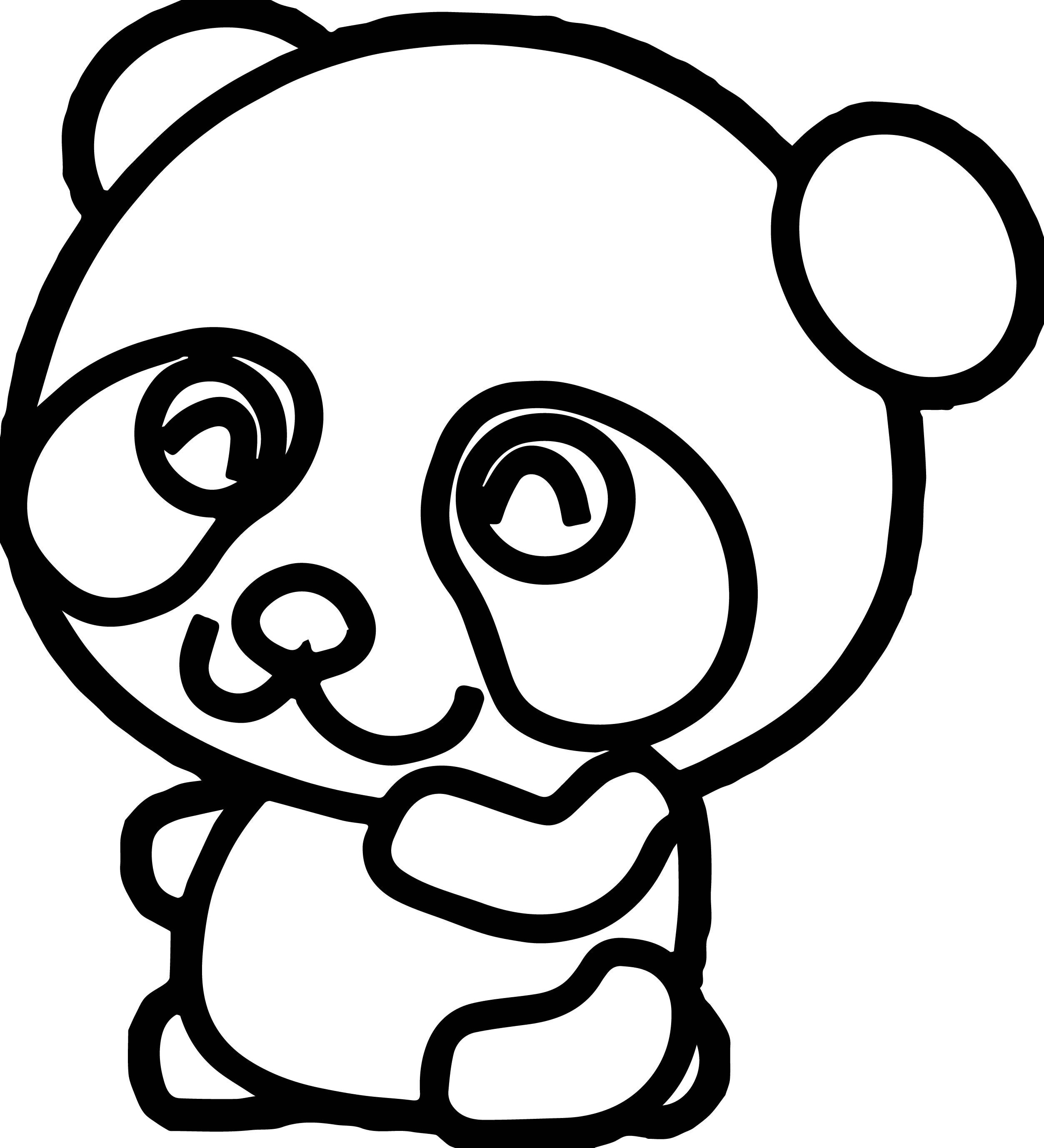 Kawaii Panda Drawing At Getdrawings