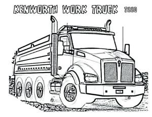 Kenworth Drawing at GetDrawings | Free for personal