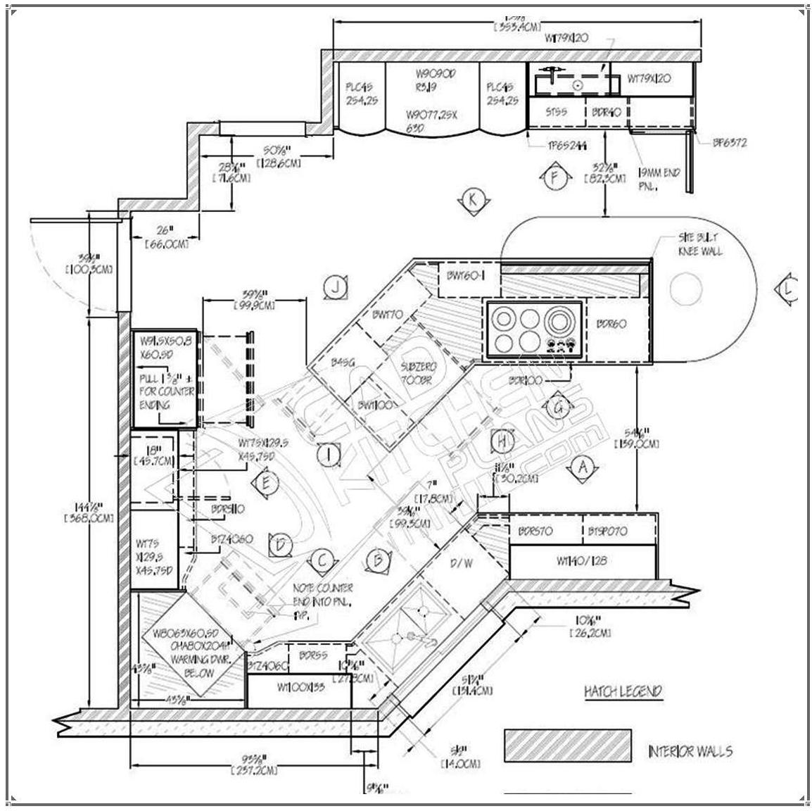 Kitchen Autocad Drawing At Getdrawings