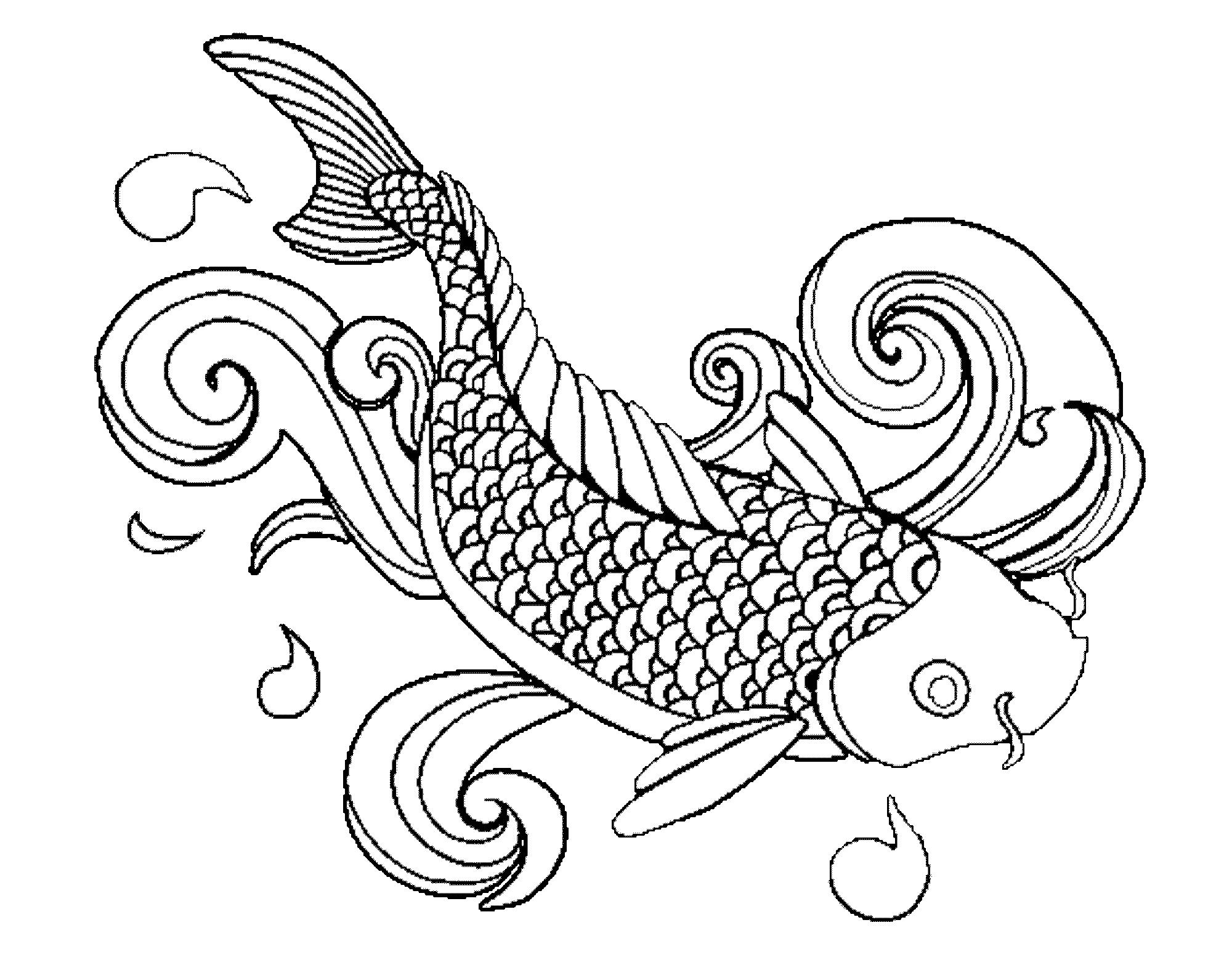 Koi Fish Pencil Drawing At Getdrawings