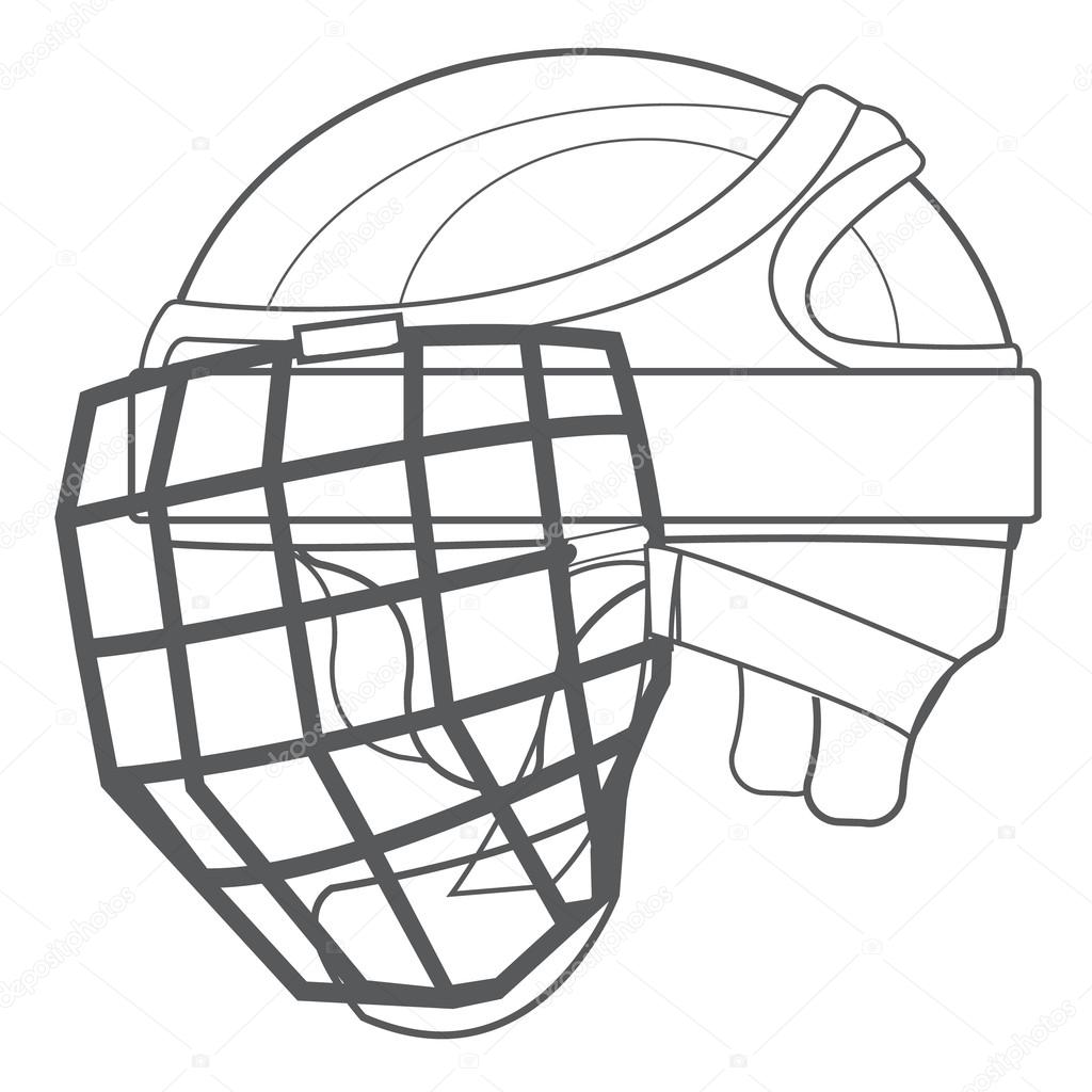 Lacrosse Helmet Drawing At Getdrawings
