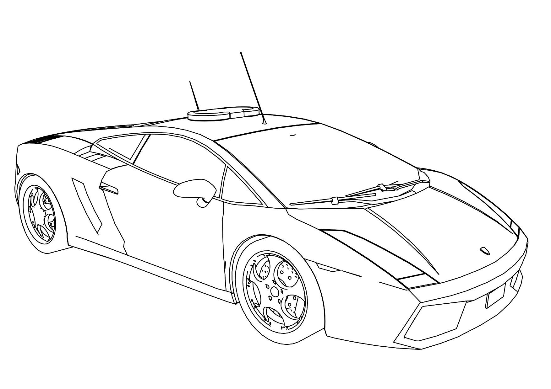 Lamborghini Aventador Drawing Outline At Getdrawings