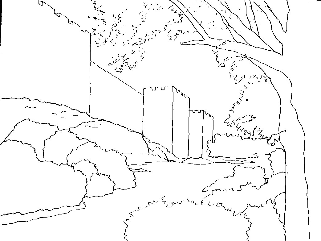 Landscape Simple Drawing At Getdrawings