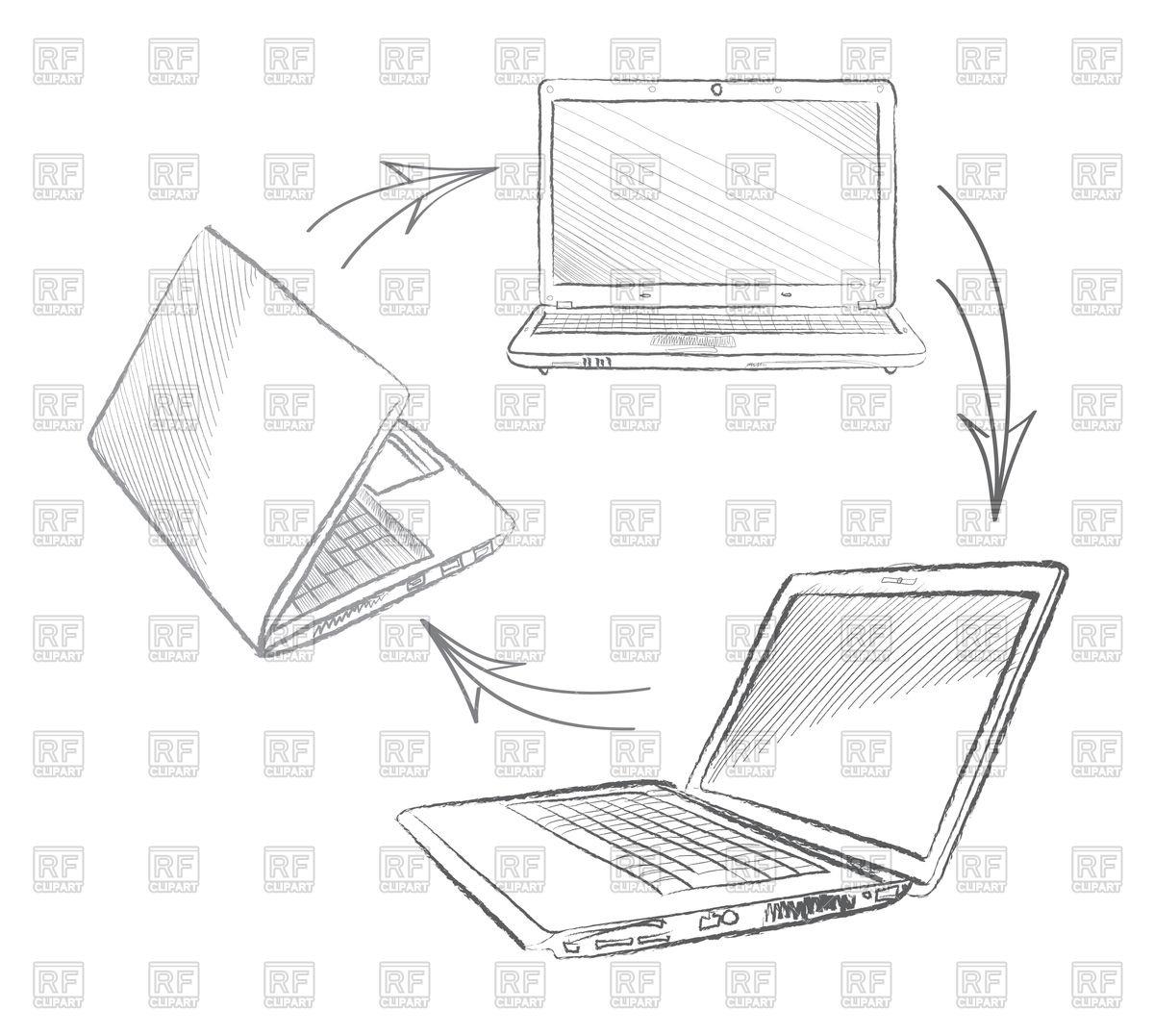 Laptop Computer Drawing At Getdrawings