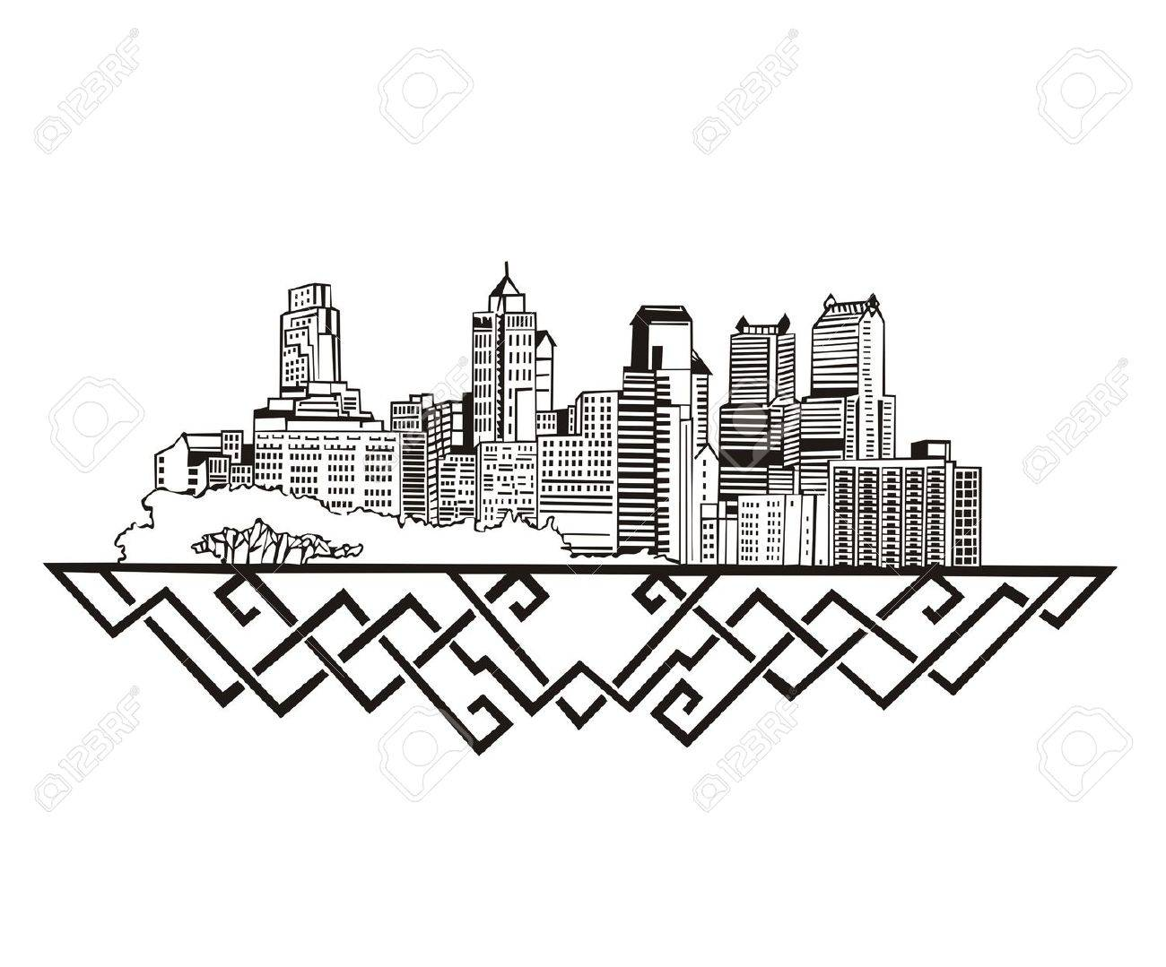 Las Vegas Skyline Drawing At Getdrawings