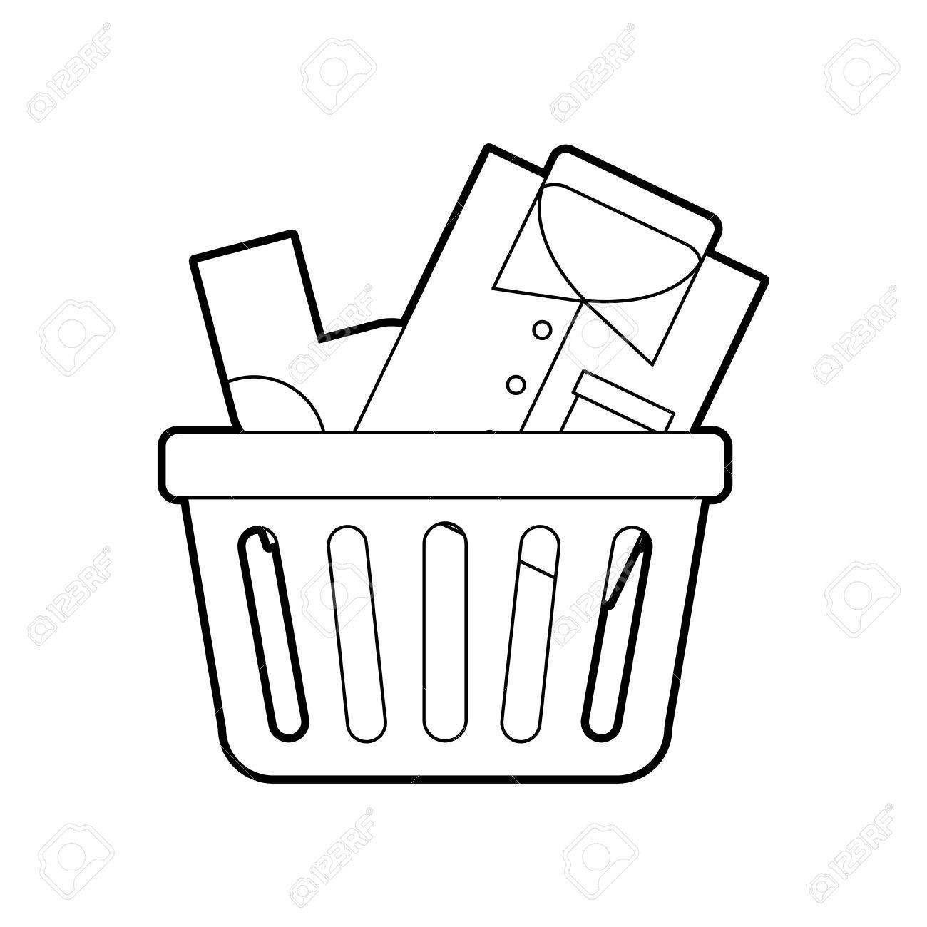 Laundry Basket Drawing At Getdrawings