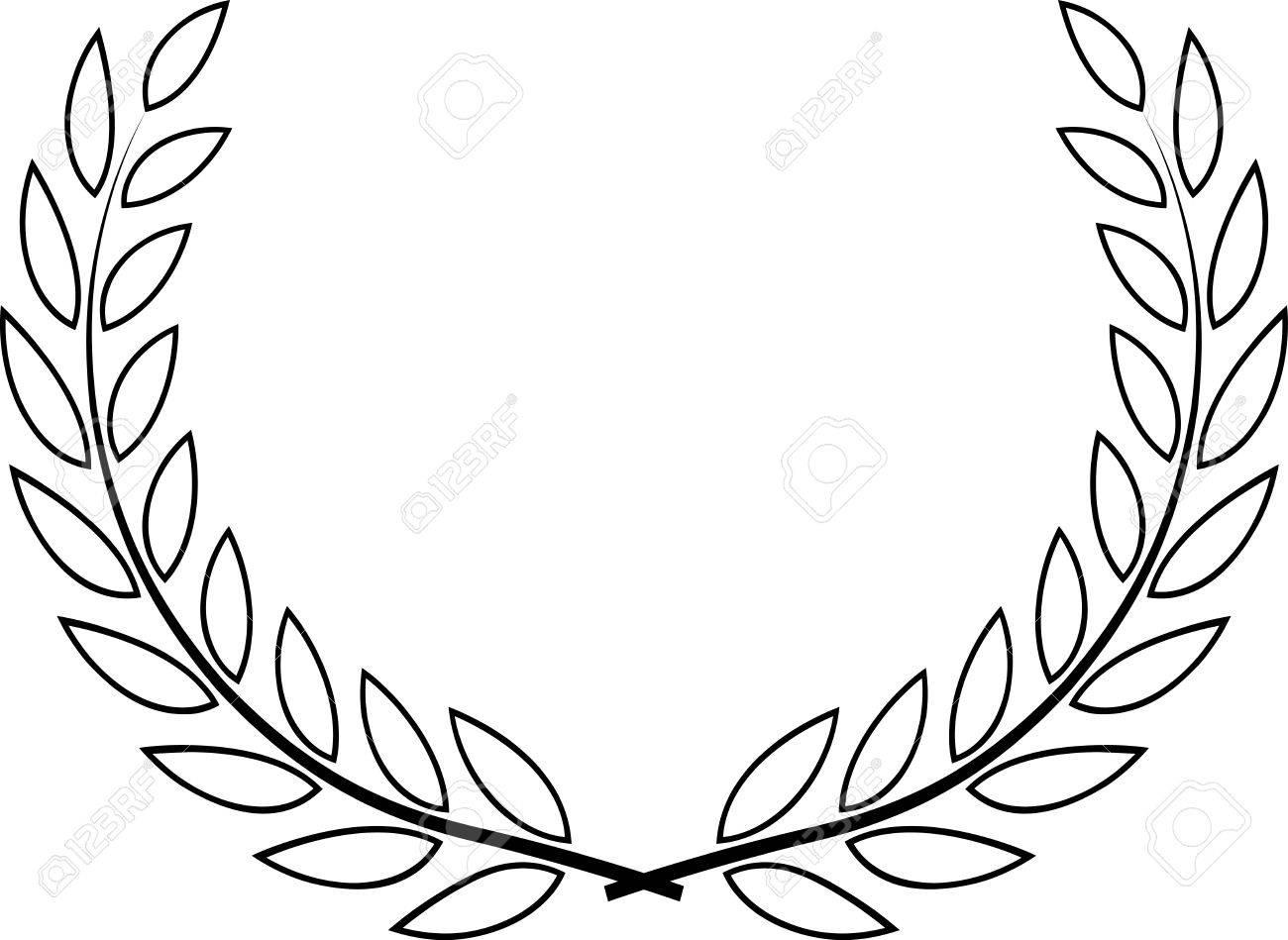 Laurel Wreath Drawing At Getdrawings