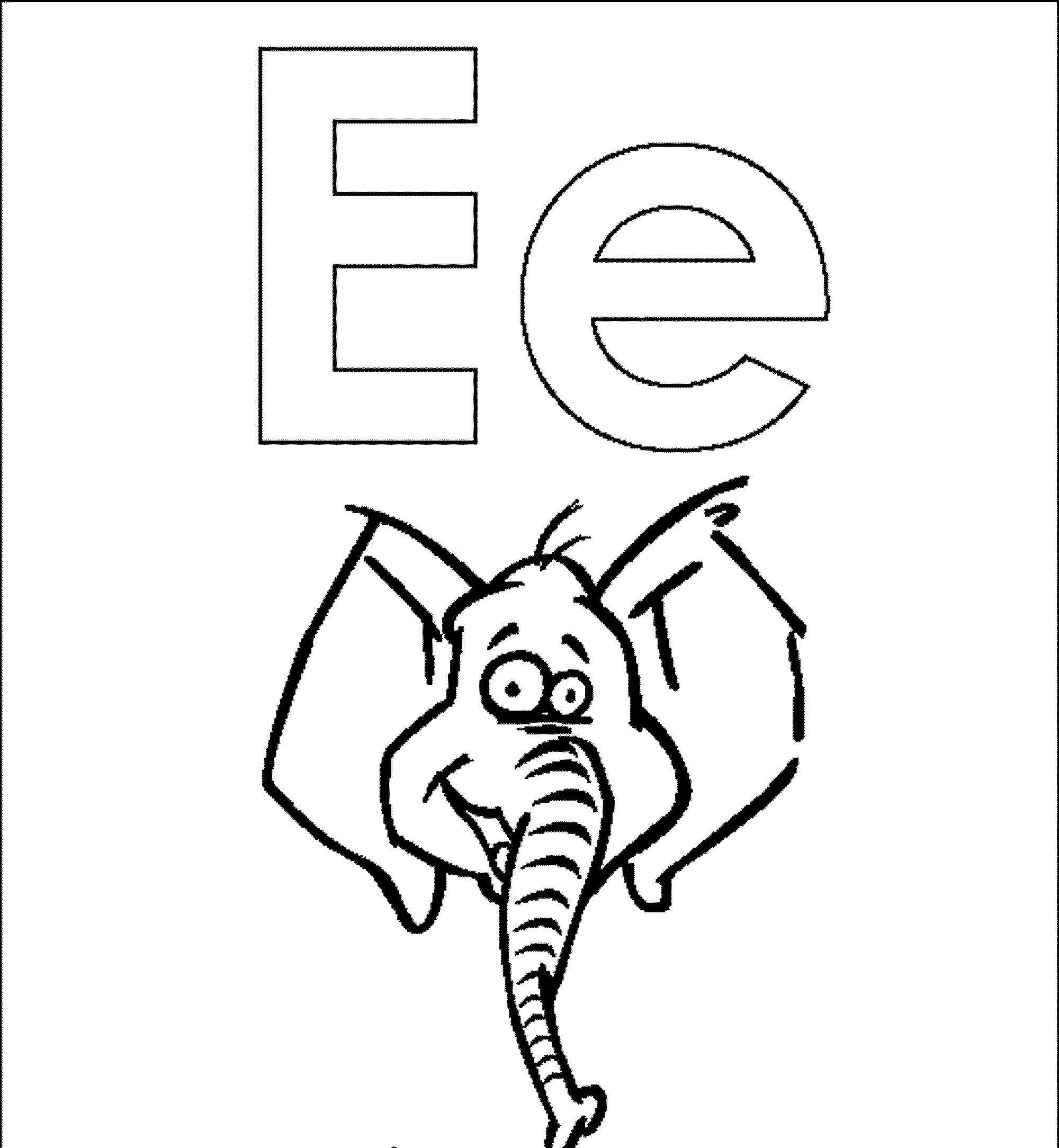 Letter E Drawing At Getdrawings