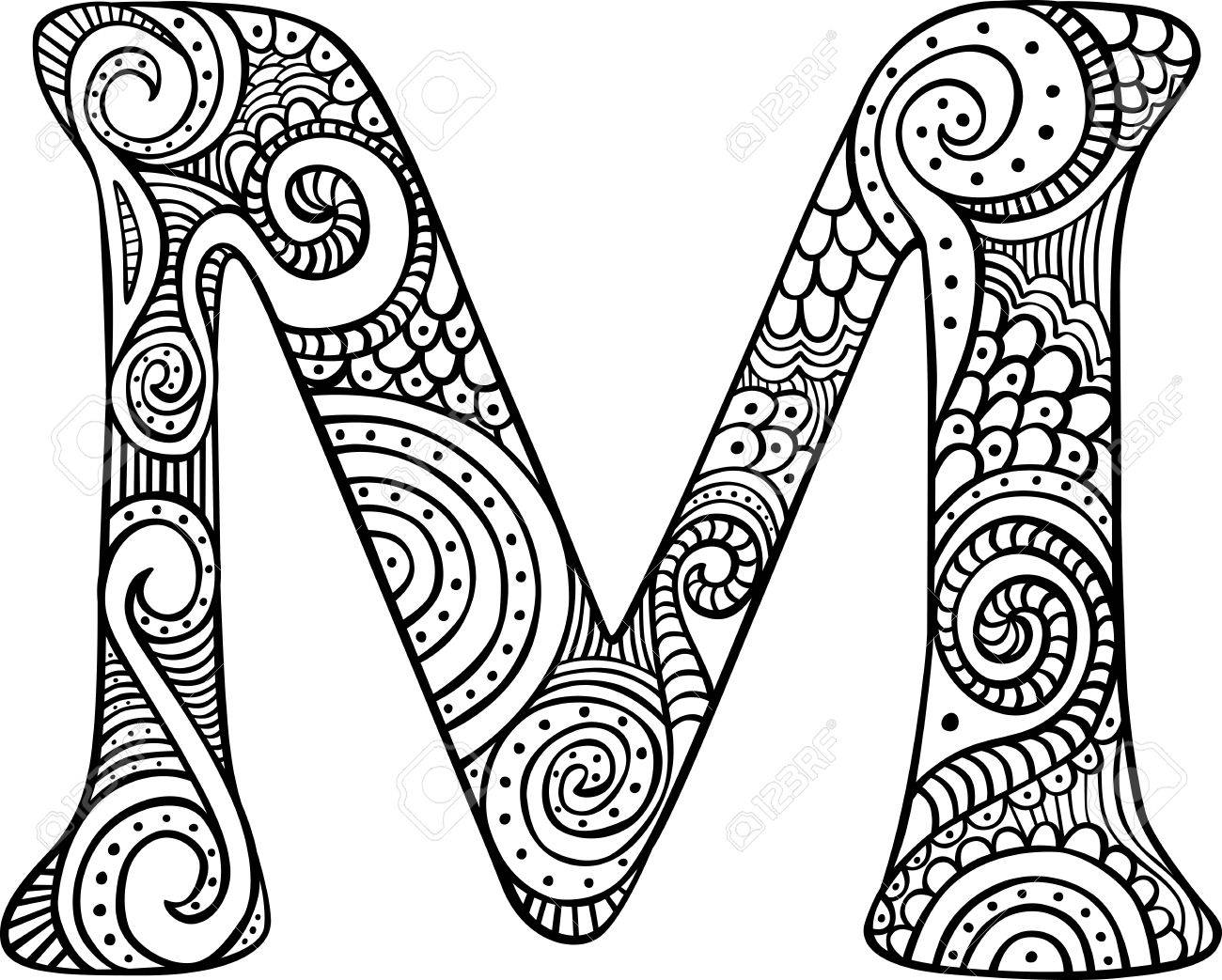 Letter M Drawing At Getdrawings