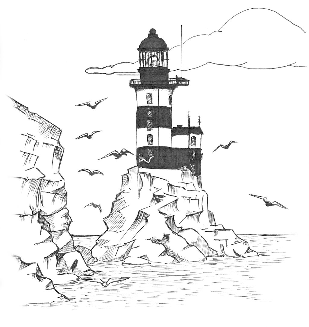 Lighthouse Pencil Drawing At Getdrawings