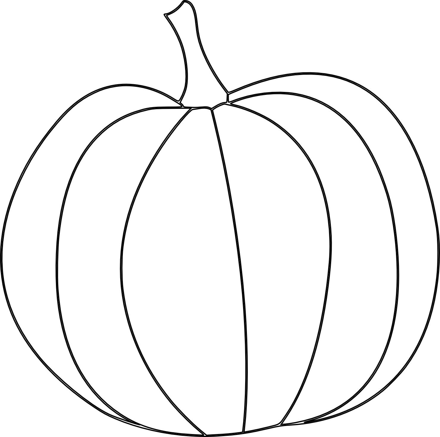 Line Drawing Of Pumpkin At Getdrawings