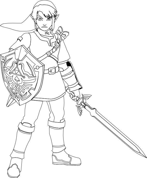 link and zelda drawing at getdrawings  free download