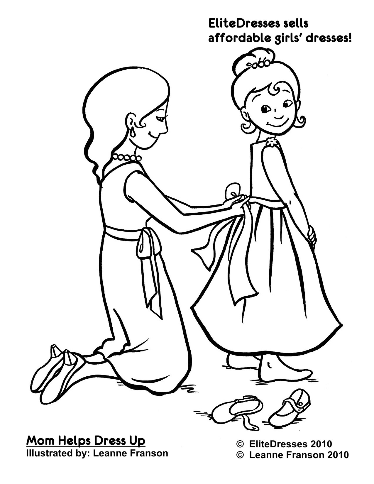 Little Girl In A Dress Drawing At Getdrawings