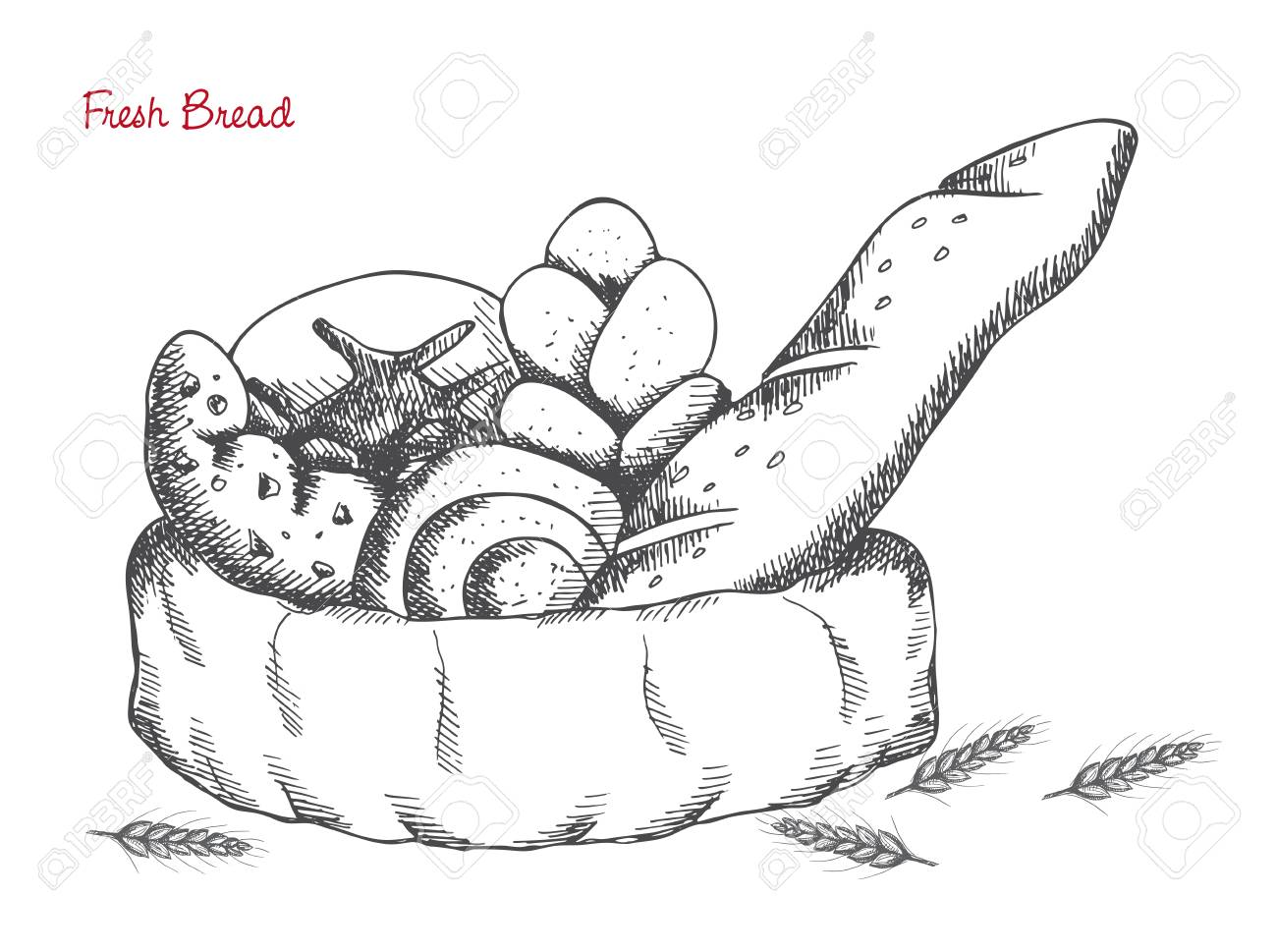 Loaf Of Bread Drawing At Getdrawings