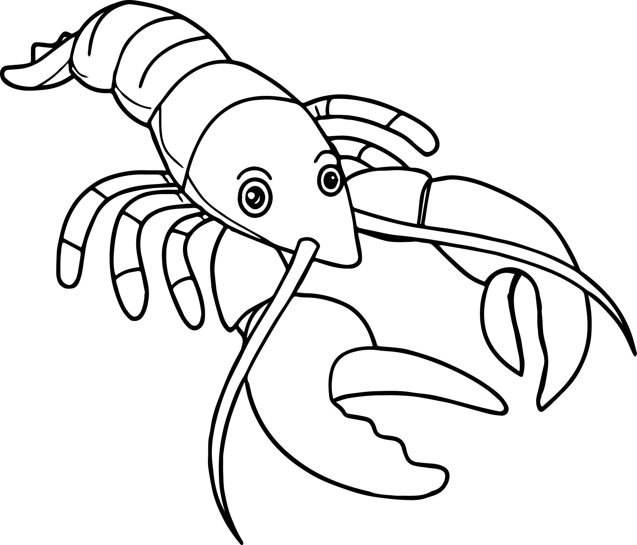 Lobster Cartoon Drawing At Getdrawings